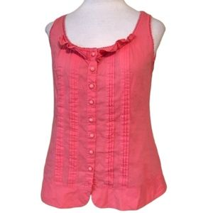 ANTHROPOLOGIE ODILLE Pink Button Down Blouse